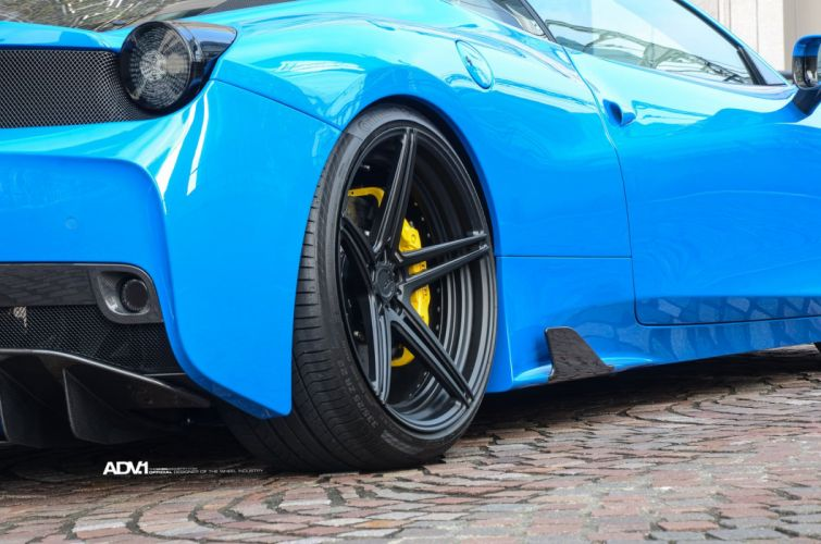 Blue Ferrari 458 Speciale cars adv1 wheels wallpaper
