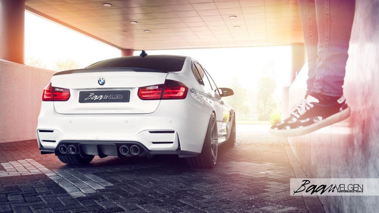 White BMW F80 (M3) ADV1 Wheels cars wallpaper