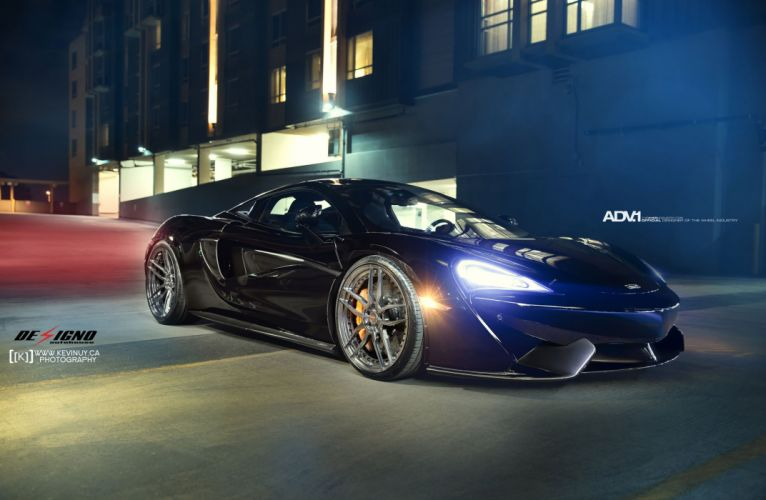 BLACK MCLAREN 570S wheels adv1 cars wallpaper