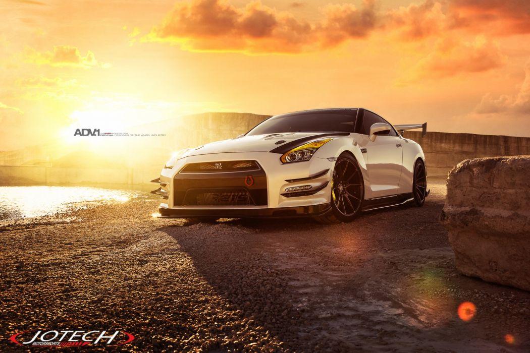 ay Nissan GT-R R35 cars godzilla jotec wallpaper