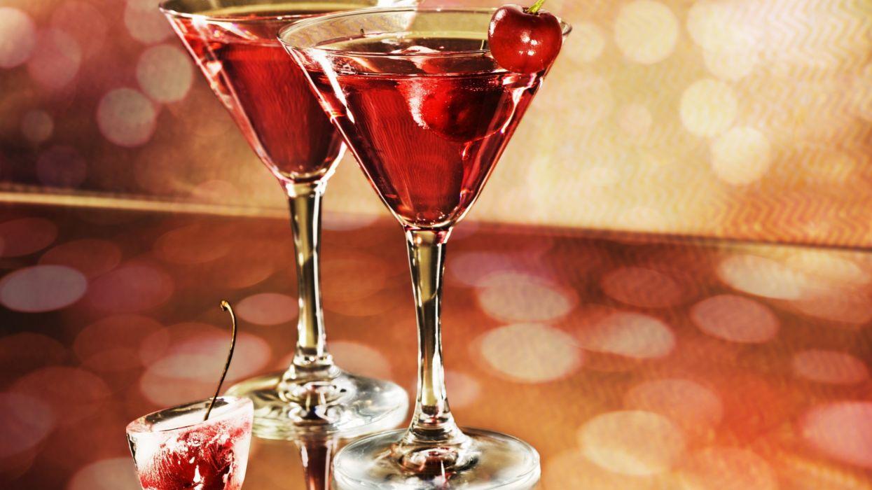cocktail copas vidrio vino ceresas wallpaper