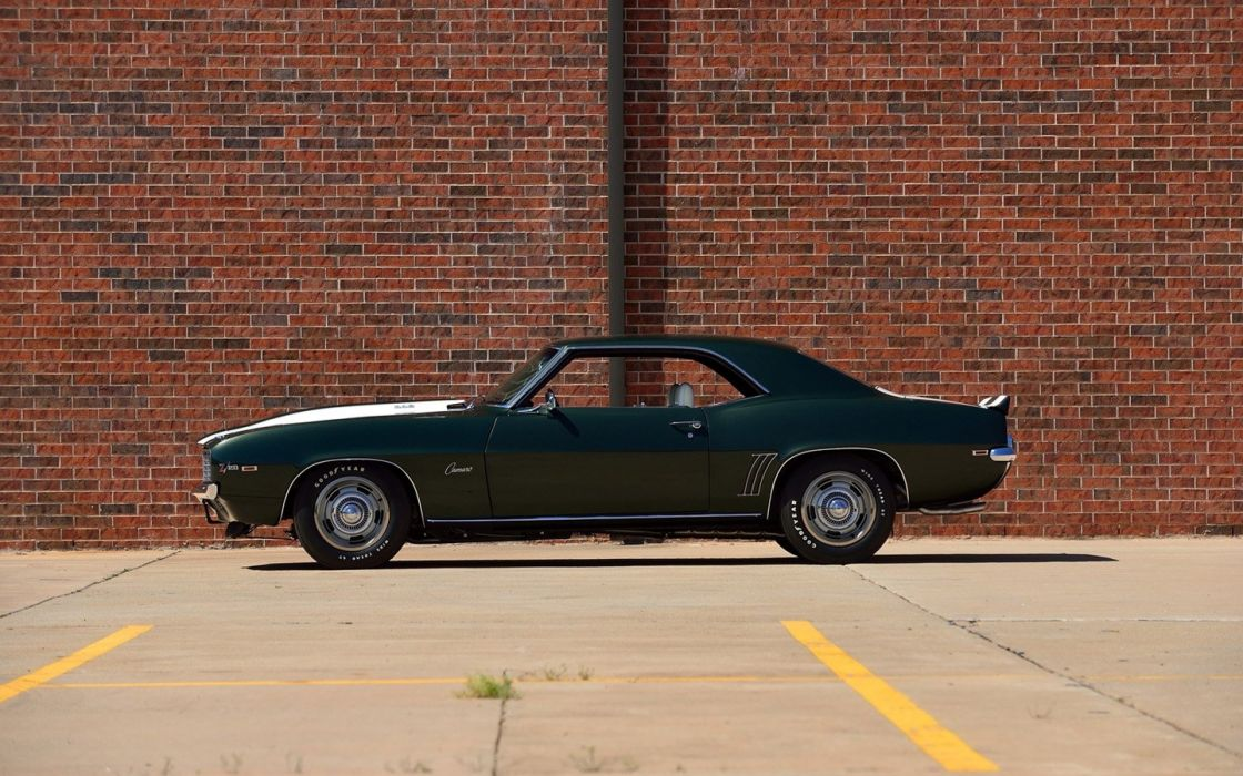 1969 Chevrolet Camaro Z28 Fathom cars Green wallpaper