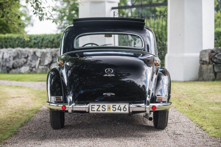 Mercedes Benz 220 Coupe (W187) cars black classic 1954 wallpaper
