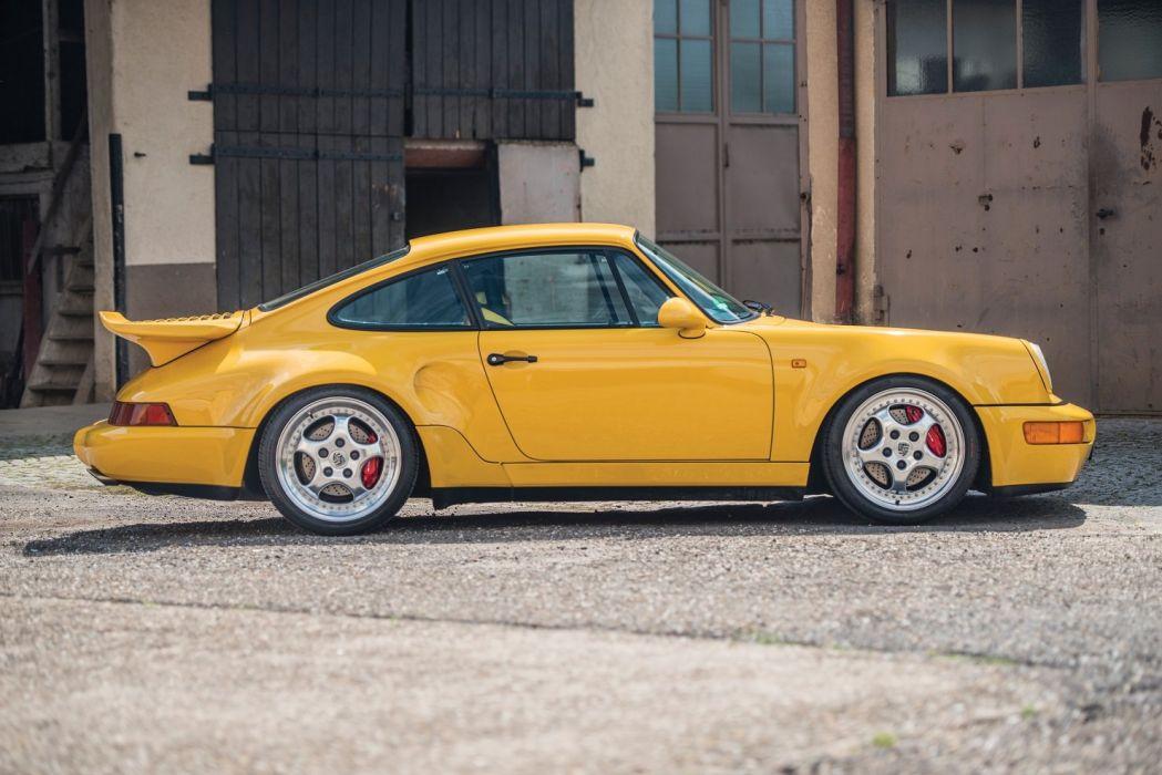 Porsche 911 Turbo S (3 3) Leichtbau Prototyp (964) cars yellow 1992 wallpaper