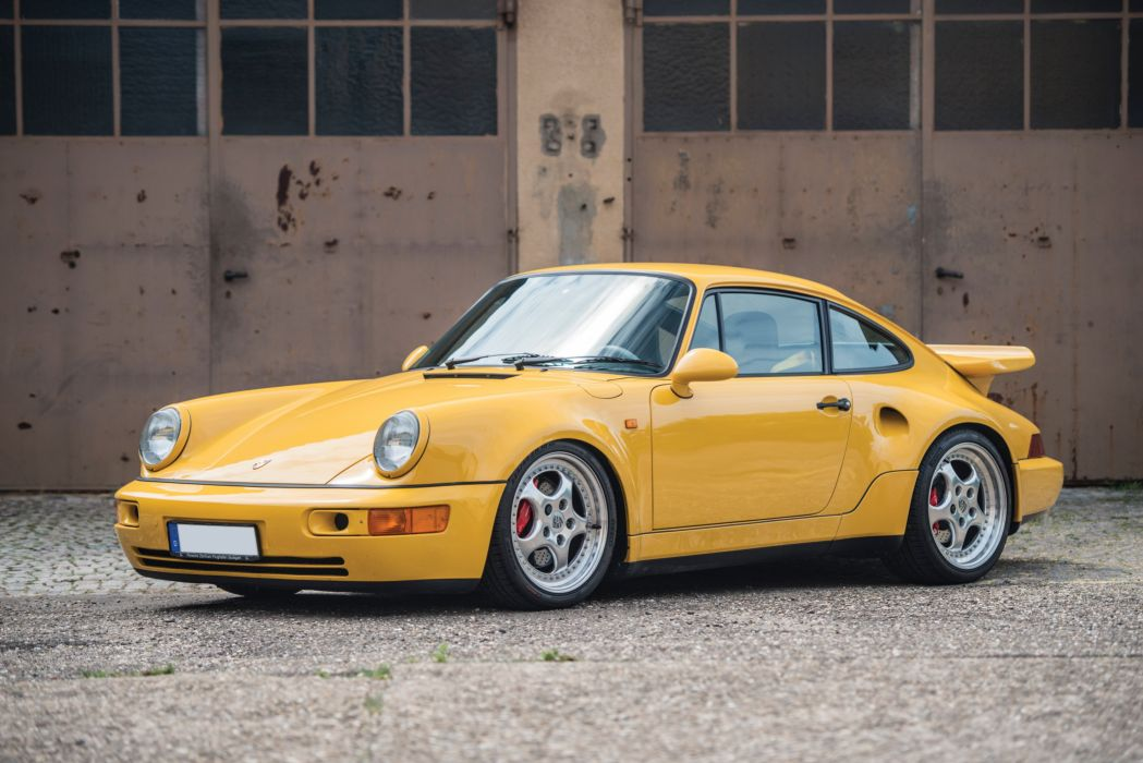 Porsche 911 Turbo S (3 3) Leichtbau Prototyp (964) cars yellow 1992 wallpaper
