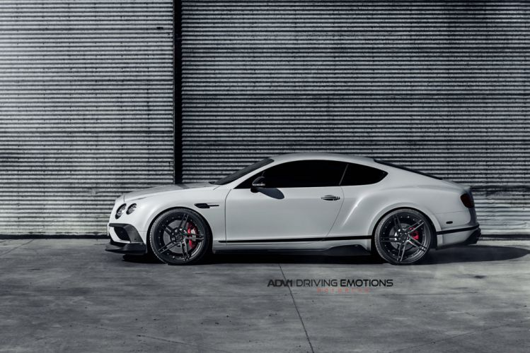 White Bentley Continental GT V8S startech adv1 wheels forged luxury cars wallpaper