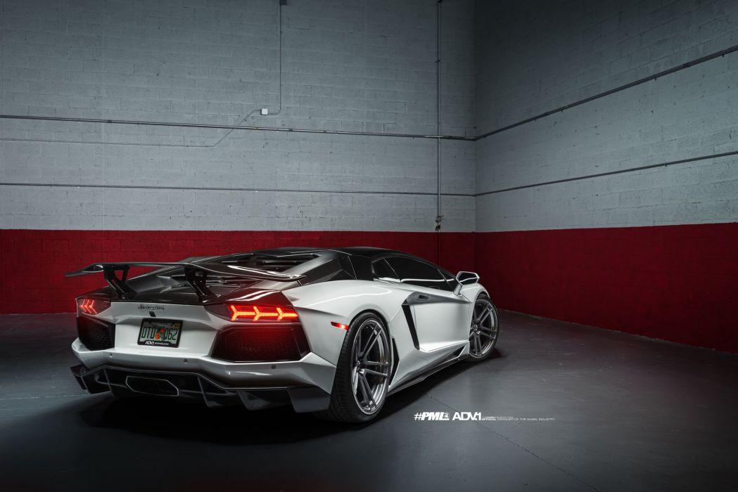 White Lamborghini Aventador LP700 cars adv1 wheels  wallpaper