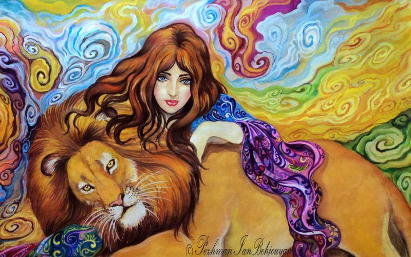 hair painting face girl eyes art wallpaper