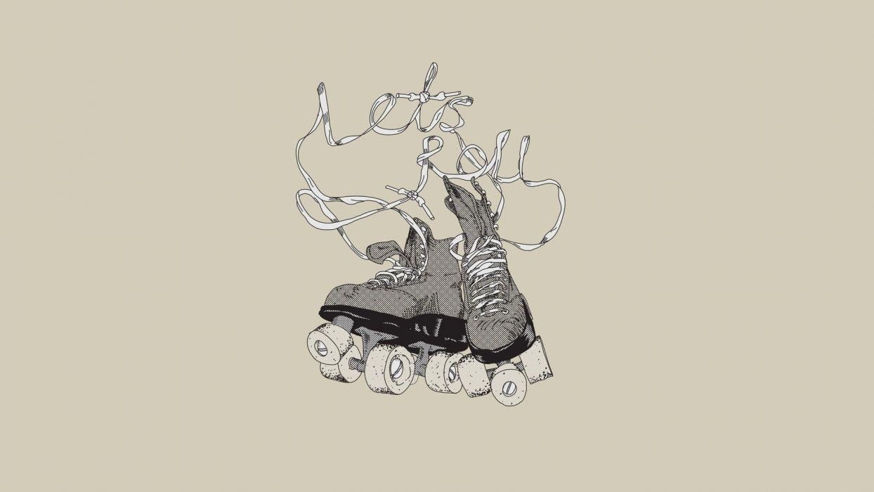 skate rollers minimalism art spor wallpaper