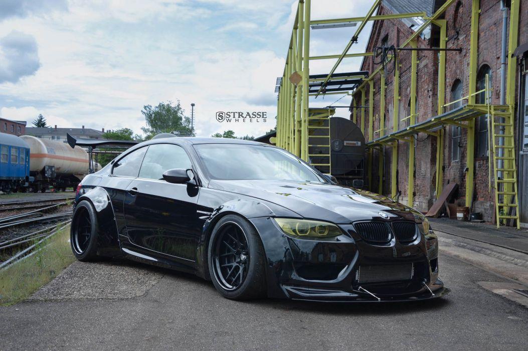 Strasse Wheels Liberty Walk BMW M3 cars black bodykit wallpaper