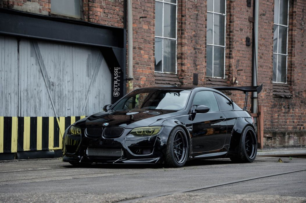 Strasse Wheels Liberty Walk BMW M3 cars black bodykit wallpaper
