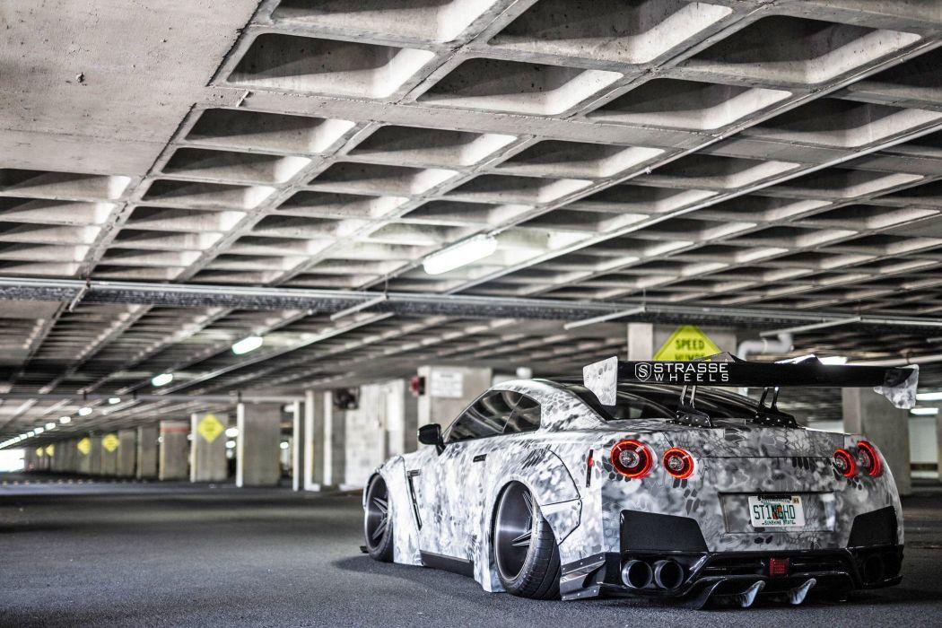 Strasse Wheels Liberty walk nissan godzilla GTR cars modified bodykit wallpaper