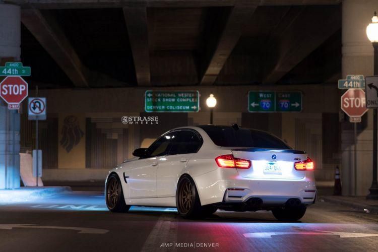 Strasse Wheels BMW M3 f80 cars white sedan wallpaper