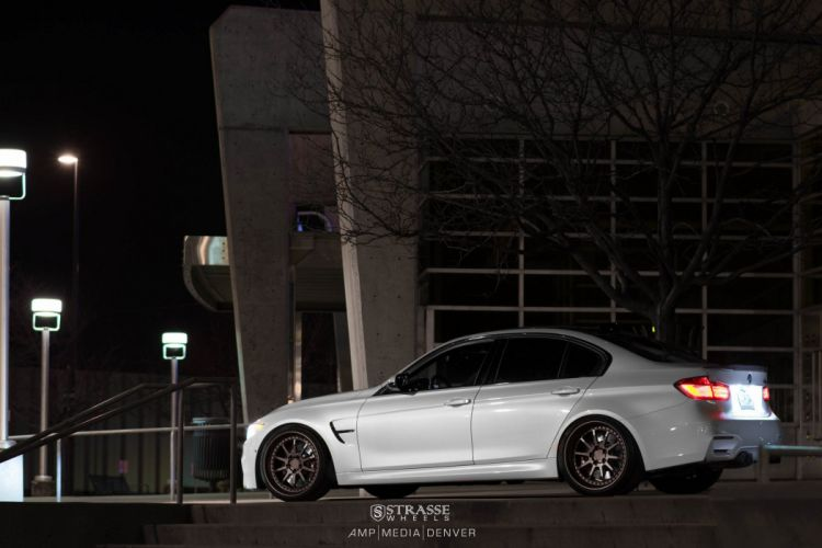 Strasse Wheels BMW M3 f80 cars white sedan wallpaper