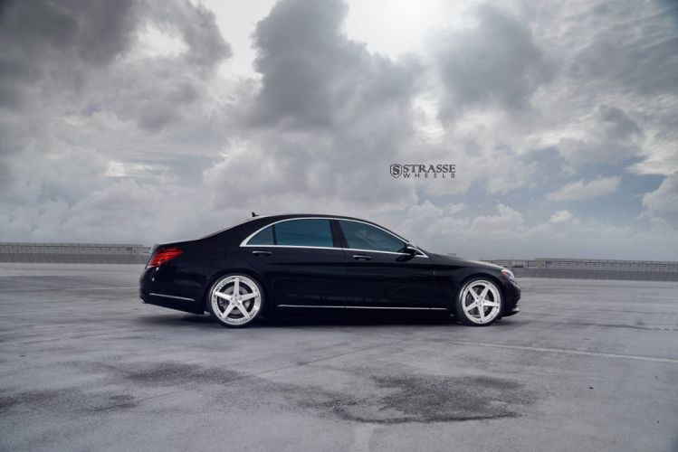 Strasse Wheels Mercedes Benz S550 cars black sedan wallpaper
