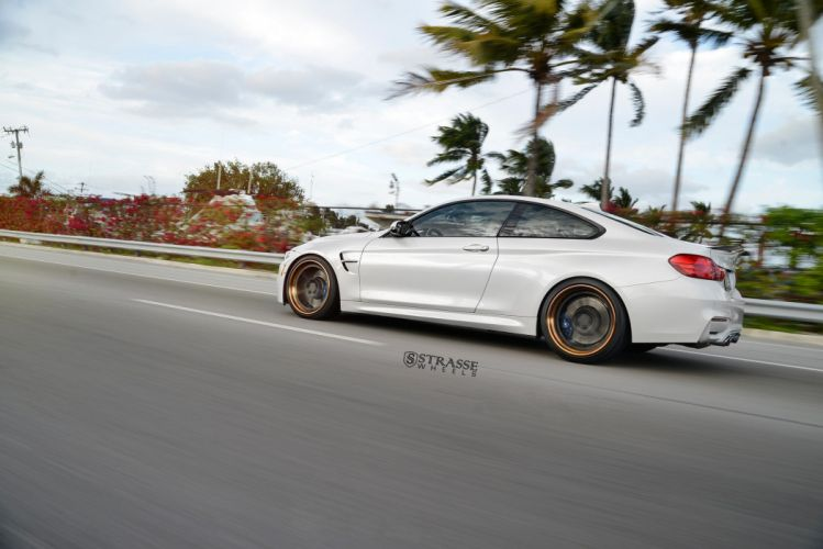 Strasse Wheels BMW M4 coupe cars white wallpaper
