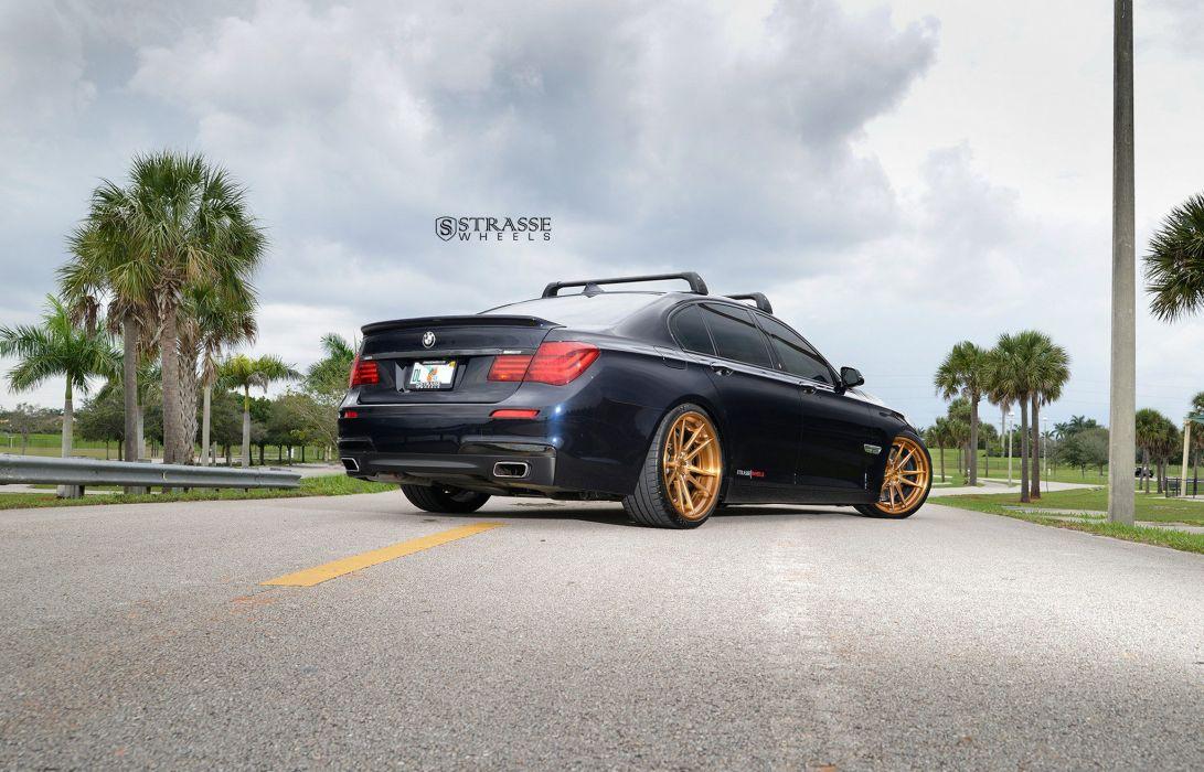 Strasse Wheels 750i BMW cars sedan black wallpaper
