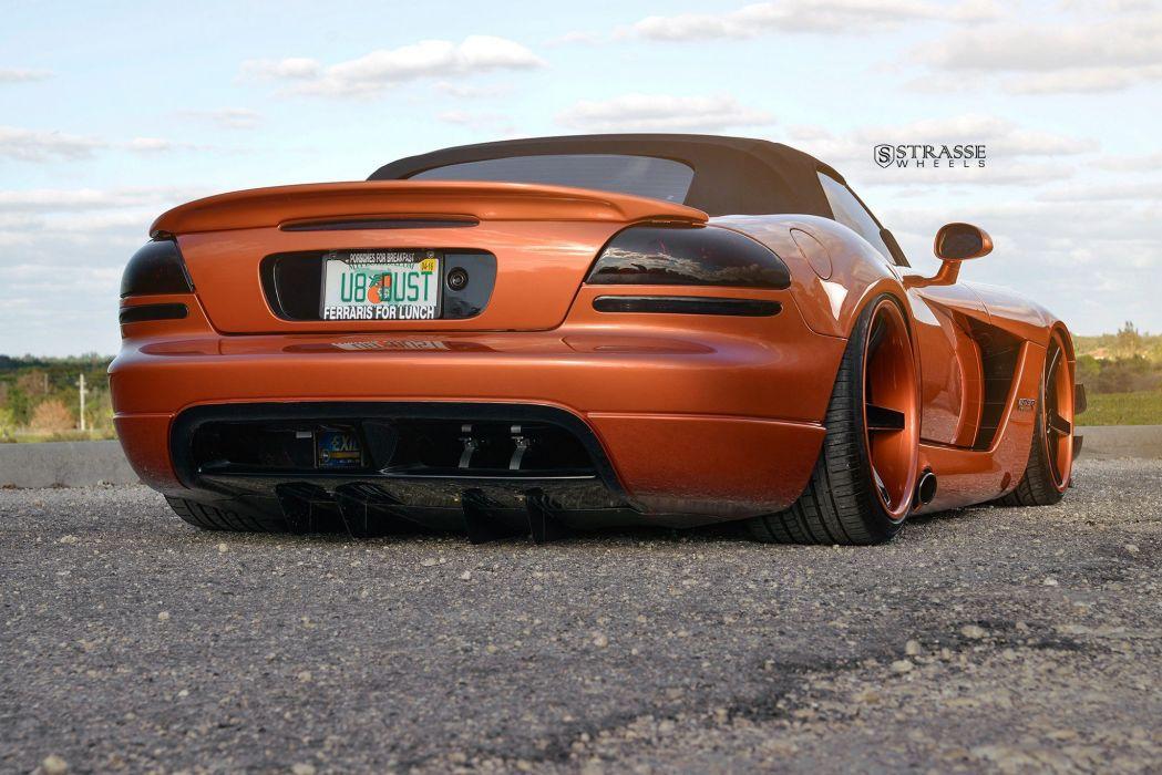 Strasse Wheels Widebody kit Dodge Viper convertible modified wallpaper