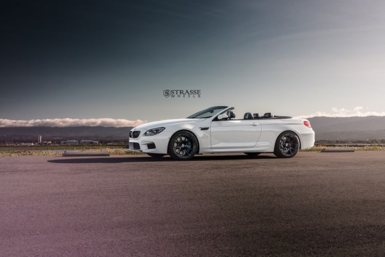 Strasse Wheels BMW M6 convertible white cars wallpaper