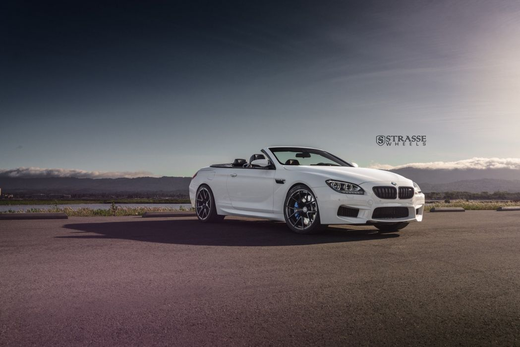 Strasse Wheels BMW M6 convertible white cars wallpaper