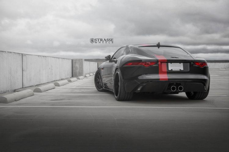 Strasse Wheels Jaguar F-Type S cars black wallpaper