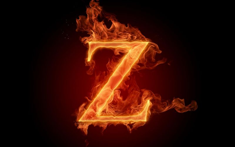 the-fiery-english-alphabet-picture-z 1920x1200 wallpaper