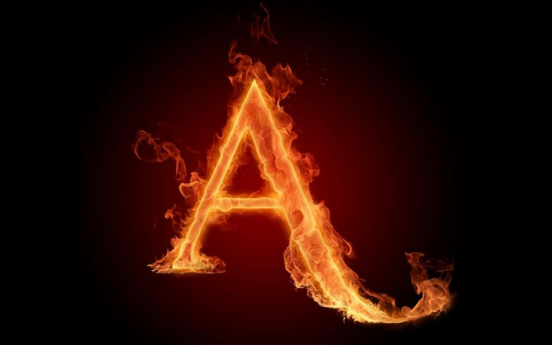 the-fiery-english-alphabet-picture-a 1920x1200 wallpaper