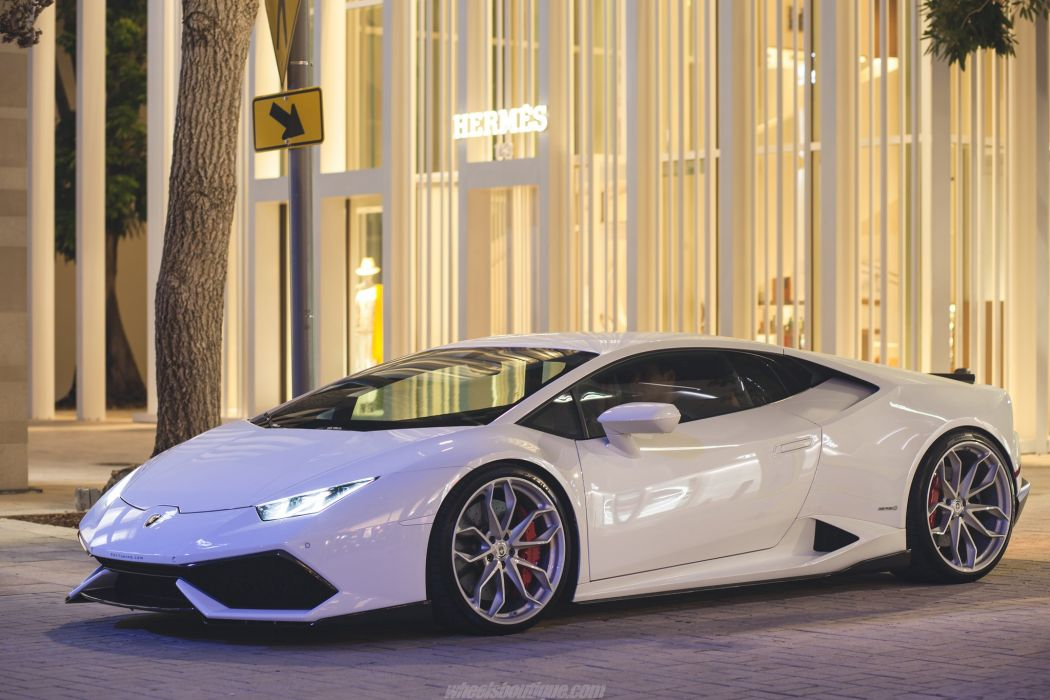 Lamborghini Huracan cars white HRE wheels wallpaper