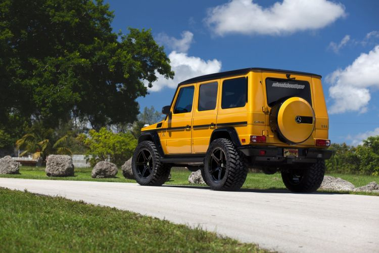 Mercedes Benz G63 AMG cars 4x4 yellow wheels HRE wallpaper