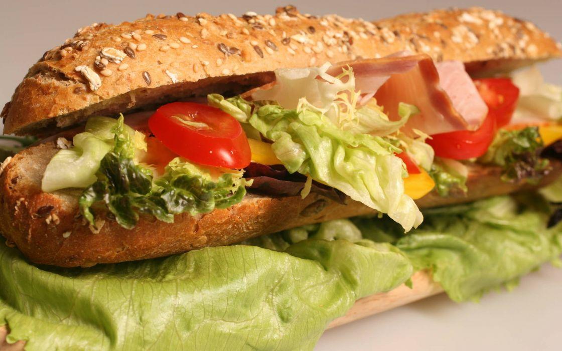 bocadillo verduras carne wallpaper