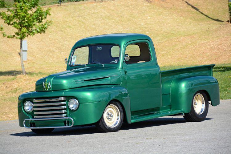1950 Ford F-1 Pickup truck classic wallpaper