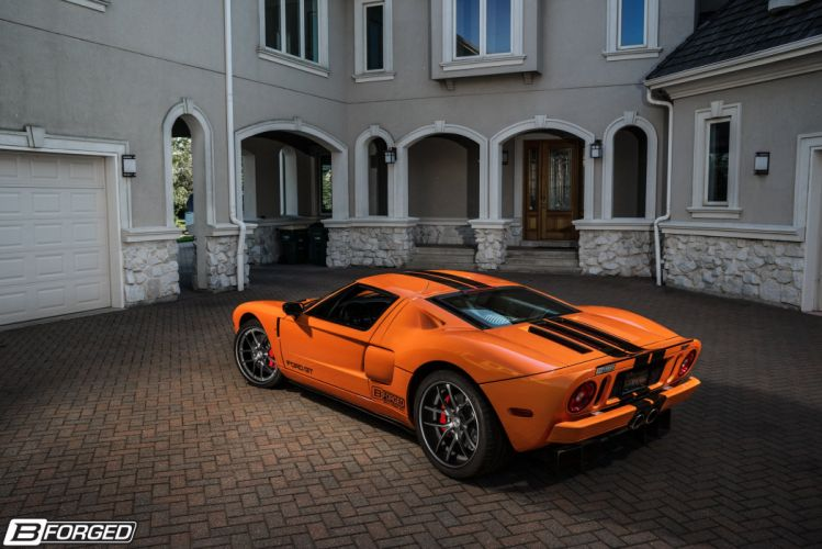 Ford GT B-Forged cars orange Wheels wallpaper