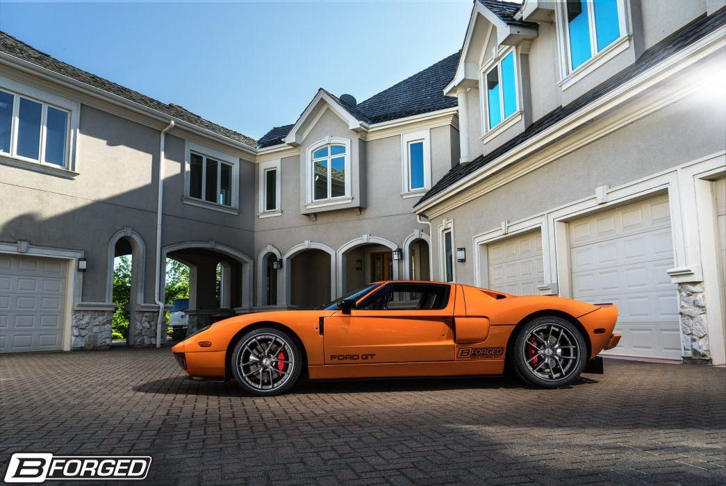 Ford GT B-Forged cars orange Wheels wallpaper