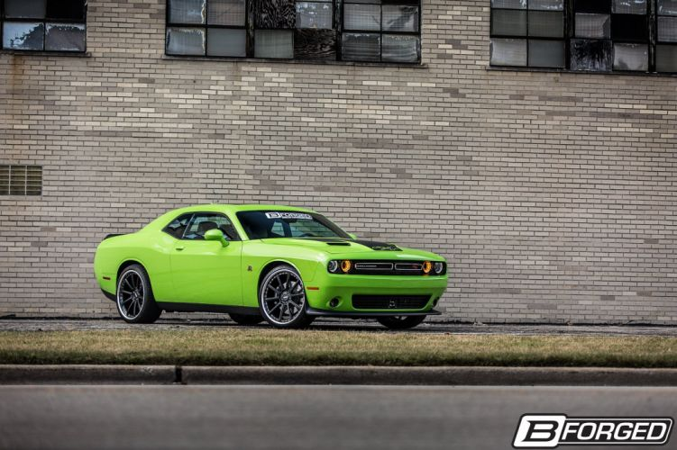 B-Forged Wheel Dodge Challenger cars green wallpaper