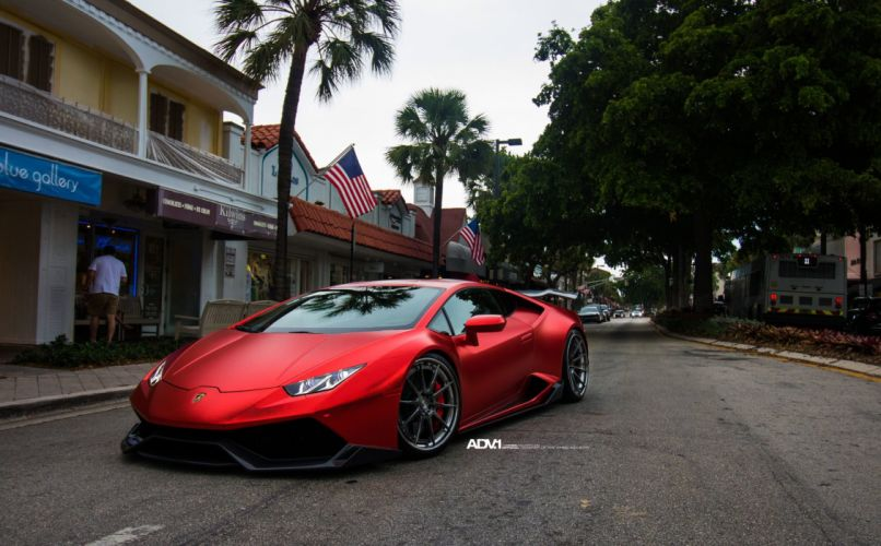 metallic-matte-red-vinyl-wrapped-lamborghini-huracan-adv1-wheels-carbon-fiber-j-1920x1190 wallpaper