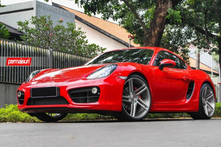 red Porshce Boxster Vossen wheels cars wallpaper