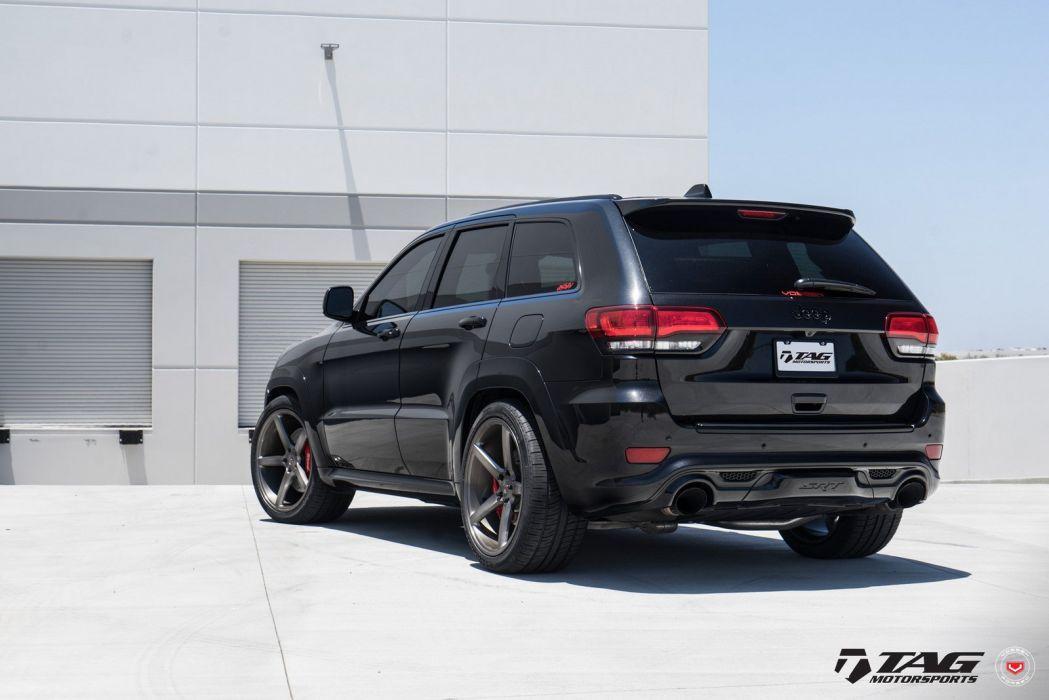 black Jeep Cherokee SRT Vossen wheels cars wallpaper