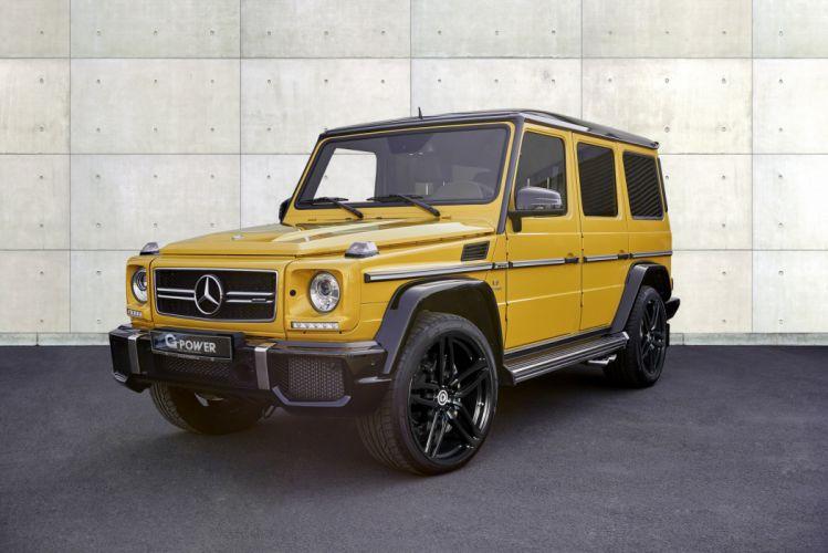 2016 G-POWER MERCEDES AMG G63 cars 4x4 yellow wallpaper