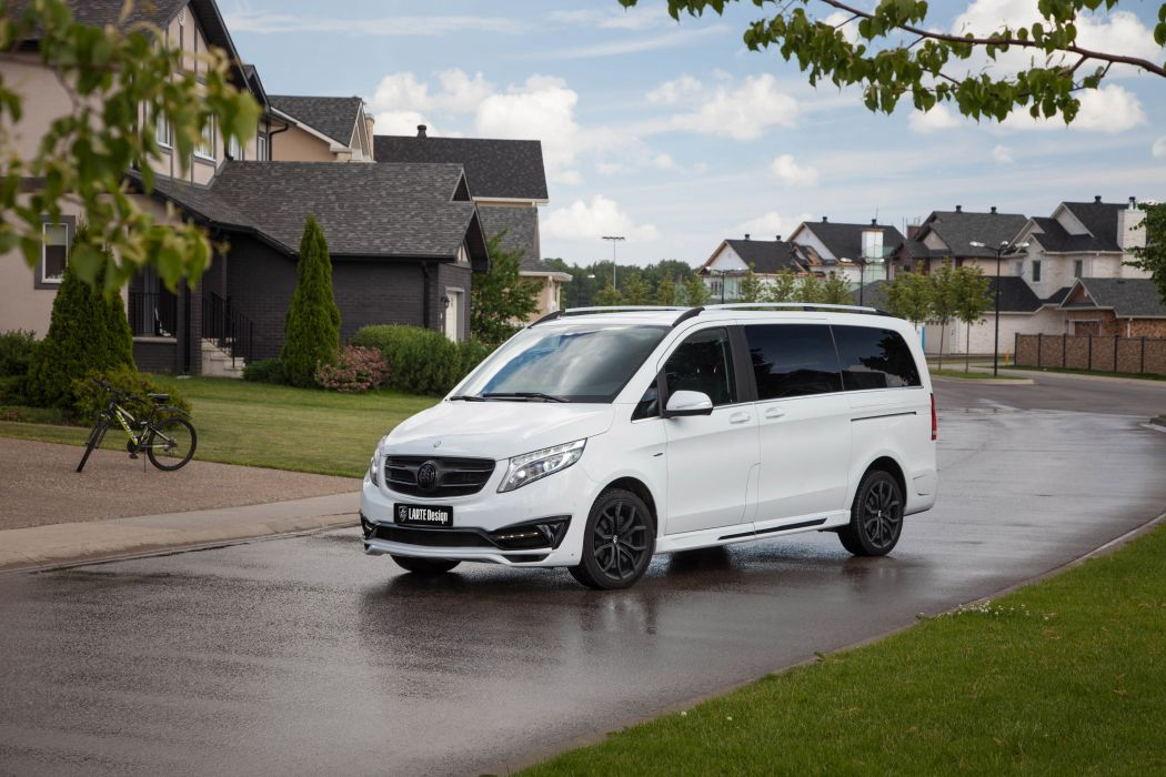 2016 MERCEDES BENZ V-CLASS BLACK CRYSTAL LARTE Design white cars modified wallpaper