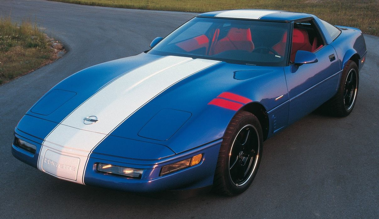 1996 Chevrolet Corvette Grand Sport Coupe cars blue wallpaper
