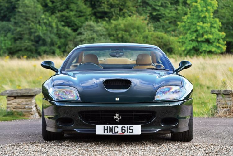 Ferrari 575-M Maranello F1 UK-spec cars coupe green 2002 wallpaper