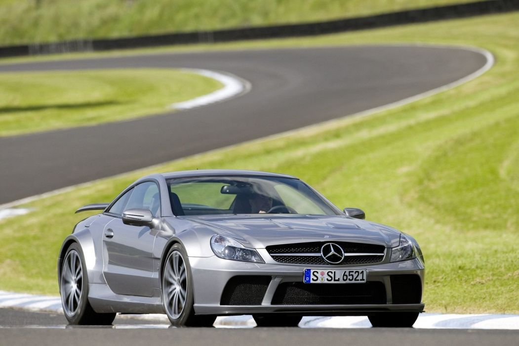Mercedes Benz SL65 AMG Black Series (R230) cars coupe silver 2008 wallpaper