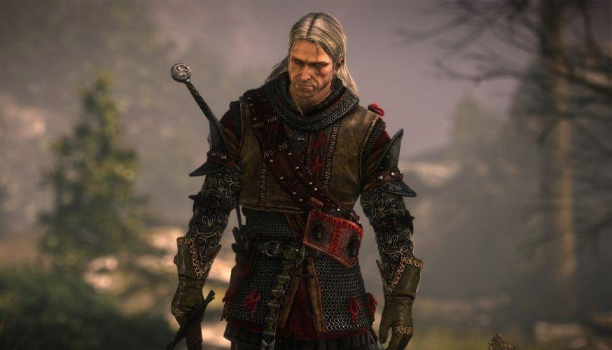 WITCHER game video action dark fantasy fighting hunt warrior wild witcher hack slash rpg online stealth wallpaper