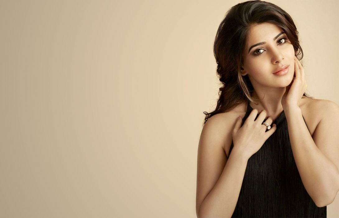 samantha bollywood actress model girl beautiful brunette pretty cute beauty sexy hot pose face eyes hair lips smile figure indian  wallpaper