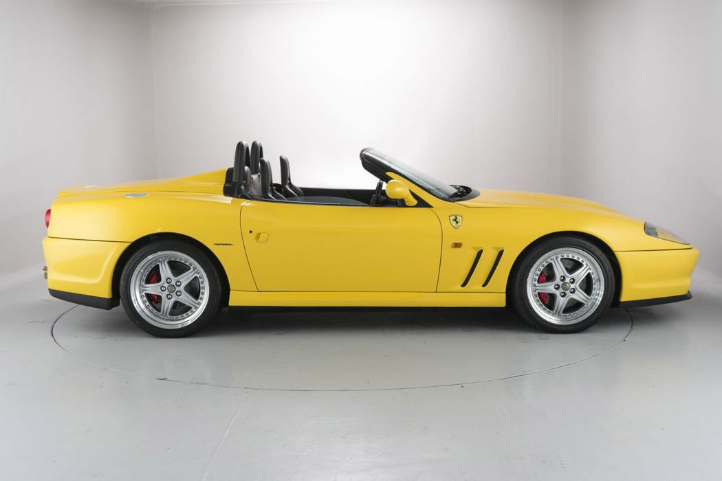 2000 FERRARI 550 BARCHETTA cars yellow wallpaper