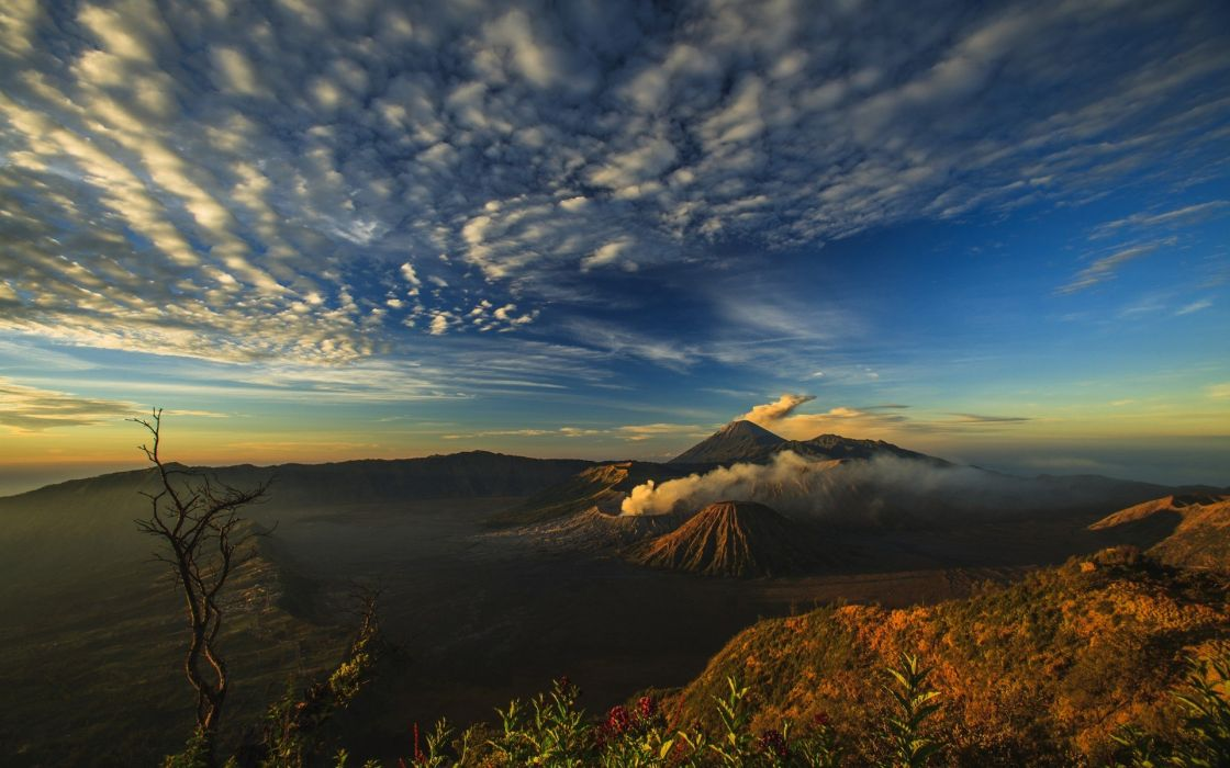 Volcano Smoke Landscape Mt Merapi 1920x1200 wallpaper