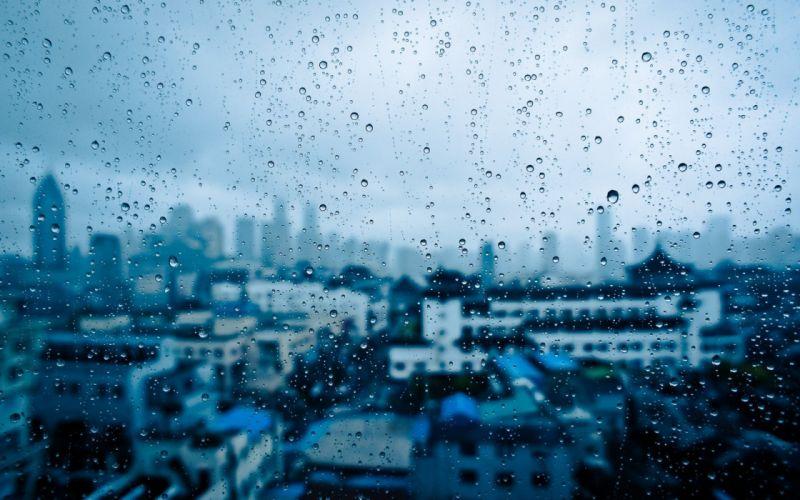 water rain glass window panes cities drops 1920x1200 62108 wallpaper