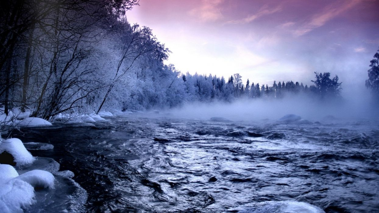 hd-wallpaper-with-a-landscape-with-river-and-snow-in-the-winter wallpaper