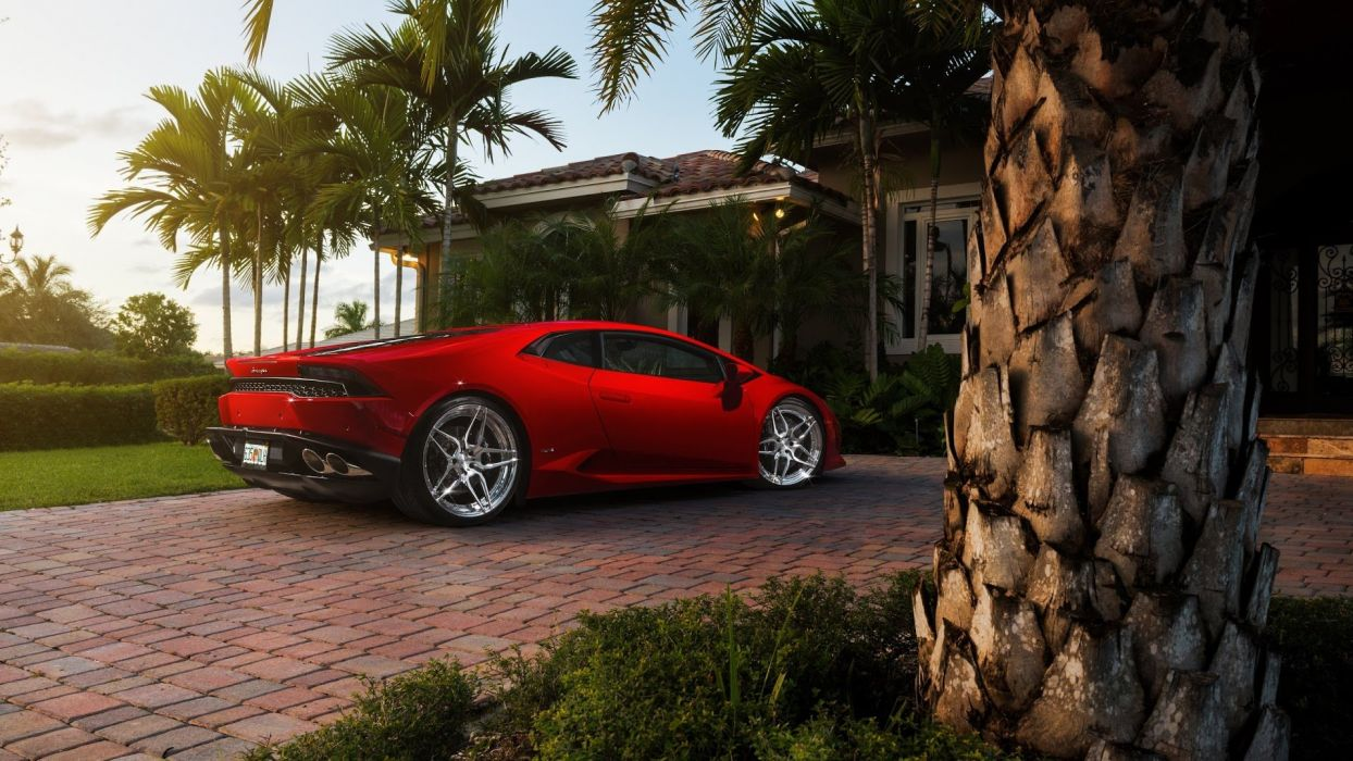 Lamborghini Huracan RED UHD wallpaper