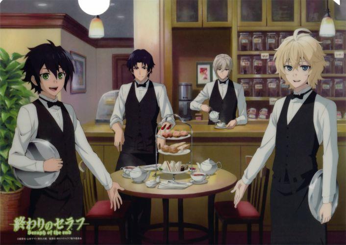 Owari no Seraph Series Michaela Hyakuya Character Yuuichirou Hyakuya Character wallpaper